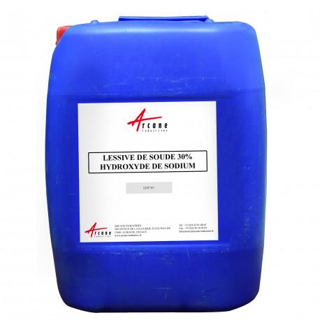 Lessive de soude 30% - Hydroxyde de sodium en solution Bidon 20L